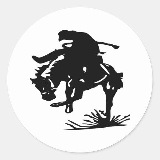 Rodeo Cowboy Classic Round Sticker