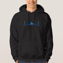 Rodeo Cowboy Dad Horse Heartbeat Gift Hoodie