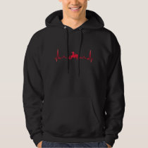 Rodeo Cowboy Horse Heartbeat Xmas Gift Hoodie