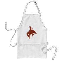 Rodeo Cowboy in Sienna Adult Apron