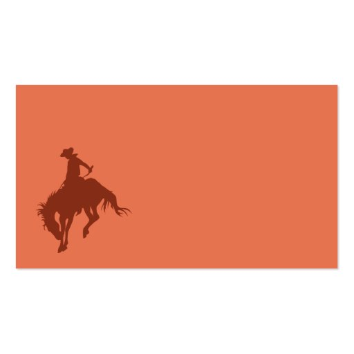 Rodeo Cowboy in Sienna Double-Sided Standard Business Cards (Pack Of 100)