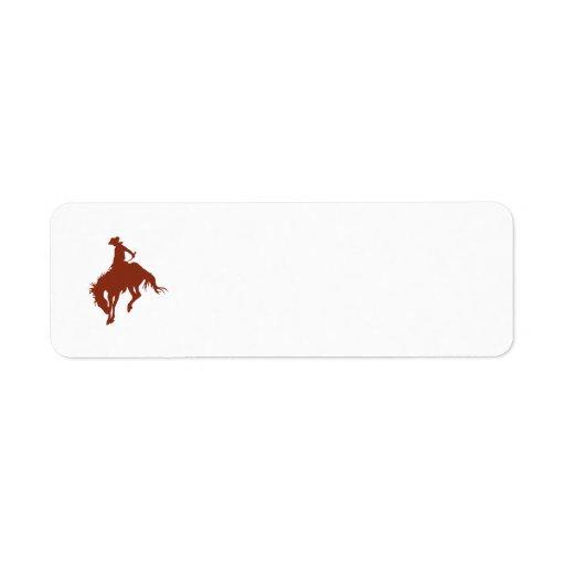 Rodeo Cowboy in Sienna Custom Return Address Labels