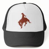 Rodeo Cowboy in Sienna Trucker Hat