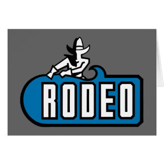 Rodeo Cowboy - Old West Card