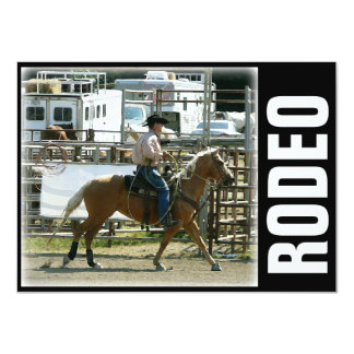 Rodeo Cowboy on Horseback Card
