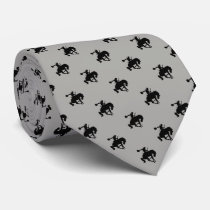 Rodeo Cowboy Pattern   Grey Neck Tie