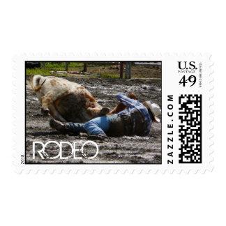 Rodeo Cowboy Postage Stamp