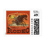 Rodeo Cowboy Postage Stamps