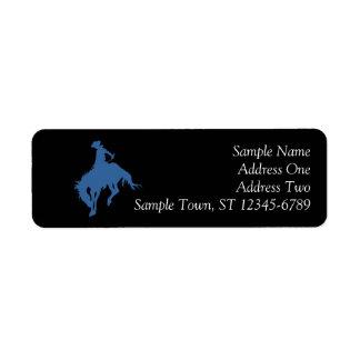 Rodeo Cowboy Return Address Label