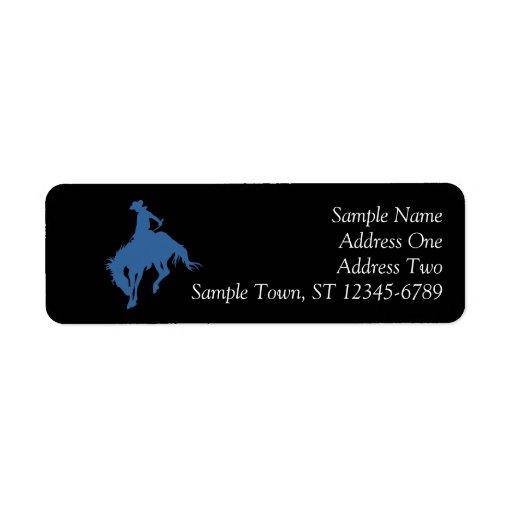 Rodeo Cowboy Return Address Label Return Address Labels