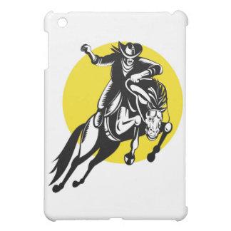 rodeo cowboy riding bucking horse bronco iPad mini cases
