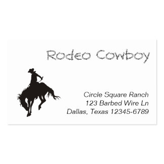 Rodeo Cowboy Silhouette Business Card