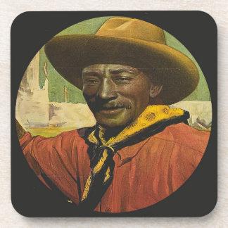 Rodeo Cowboy Steer Wrestling Coasters