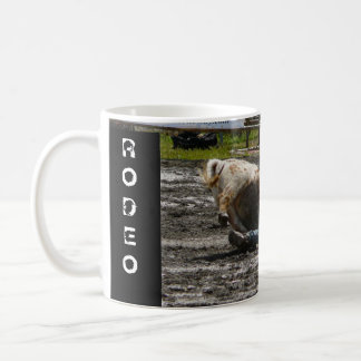 Rodeo Cowboy Steer Wrestling Coffee Mug
