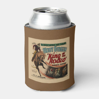 Rodeo Cowboy Vintage Western Movie Can Cooler