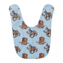 Rodeo Cowboy, Western Boots, Horse, Country Bib