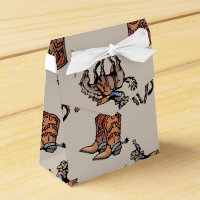Rodeo Cowboy, Western Boots, Horse, Country Favor Box