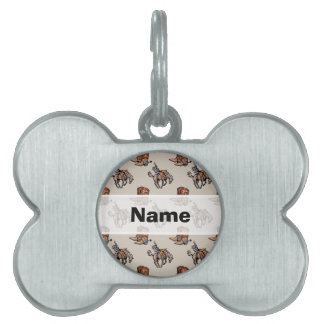 Rodeo Cowboy, Western Boots, Horse, Country Pet Tag