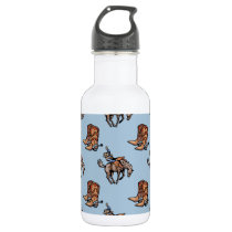 Rodeo Cowboy, Western Boots, Horse, Country Stainless Steel Water Bottle