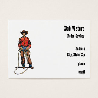 Rodeo Cowboy With Rope Business Card