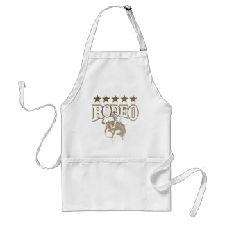 Rodeo Cowboy With Stars Adult Apron