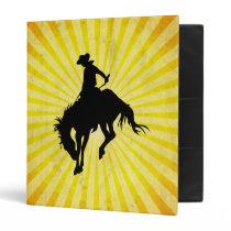 Rodeo Cowboy; yellow Binder