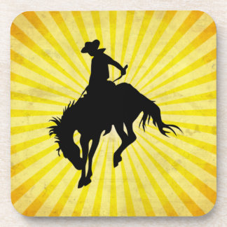 Rodeo Cowboy; yellow Drink Coaster