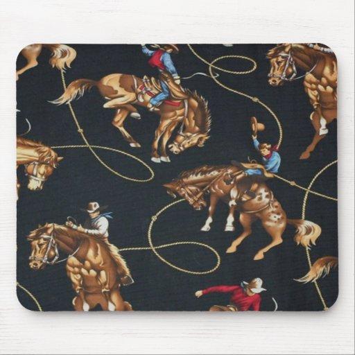 Rodeo Cowboys Bronc Riding Mousepad