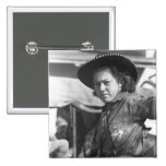 Rodeo Cowgirl: 1940 2 Inch Square Button