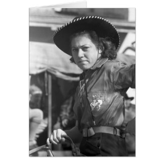 Rodeo Cowgirl: 1940 Card