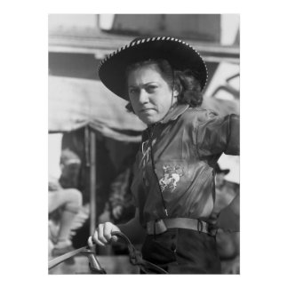 Rodeo Cowgirl: 1940 Print