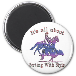 RODEO COWGIRL 2 INCH ROUND MAGNET