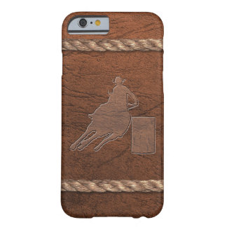 Rodeo Cowgirl - Barrel Racer Leather & Rope Barely There iPhone 6 Case