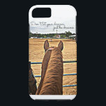 """Rodeo Cowgirl Barrel Racer Tough iPhone 7 Case<br><div class=""""desc"""">Don&amp;#39;t let your dreams just be dreams. A motivational quote for any cowgirl/barrel racer. Unique image</div>"""