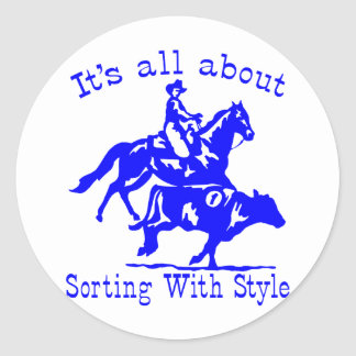 RODEO COWGIRL CLASSIC ROUND STICKER