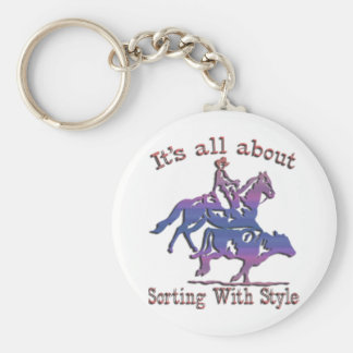 RODEO COWGIRL KEYCHAIN