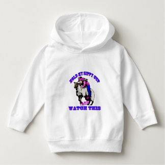 """Rodeo Cowgirl Mutton Bustin"""" Sippy Watch This Hoodie"""