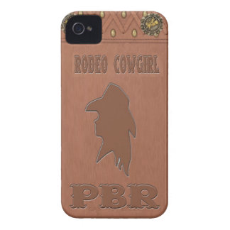 """Rodeo Cowgirl """"PBR"""" IPhone 4 Case"""