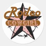 Rodeo Cowgirl Star Sticker