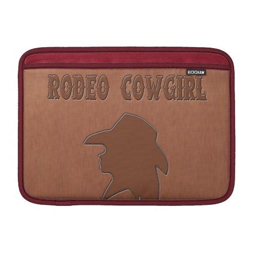 """Rodeo Cowgirl"" Western Macbook Sleeve"