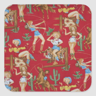 Rodeo Cowgirls Red Stickers