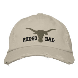 Embroidered Distressed Wool Cap with Embroidered Dad Gifts design