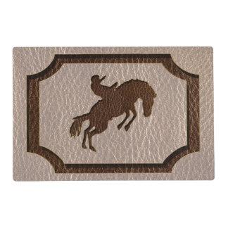 Rodeo de la Cuero-Mirada suave Tapete Individual