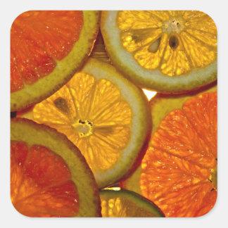 Rodeo de la fruta pegatinas cuadradases