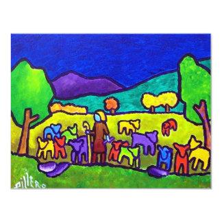 Rodeo de las ovejas por Piliero Invitación 10,8 X 13,9 Cm