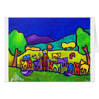 Rodeo de las ovejas por Piliero Tarjeta De Felicitación
