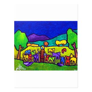 Rodeo de las ovejas por Piliero Tarjeta Postal