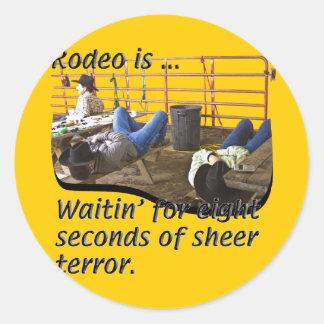 Rodeo-Definido Pegatina Redonda