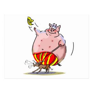 Rodeo del cerdo postales