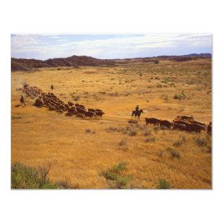 """Rodeo del ganado invitación 4.25"""" x 5.5"""""""